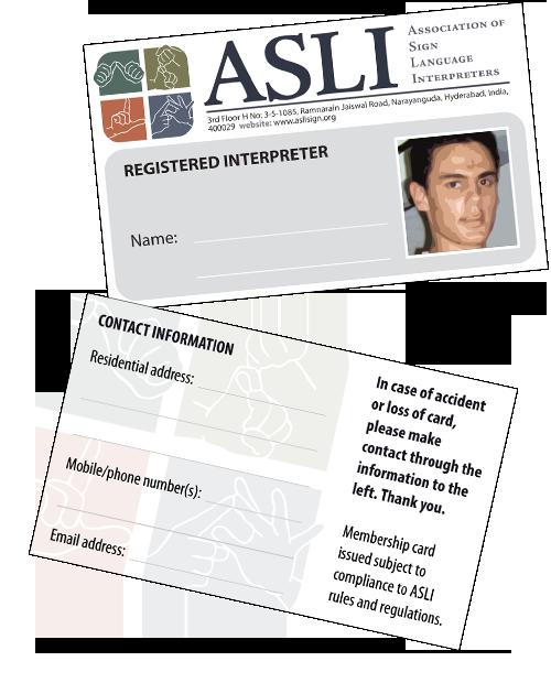ASLI ID Card