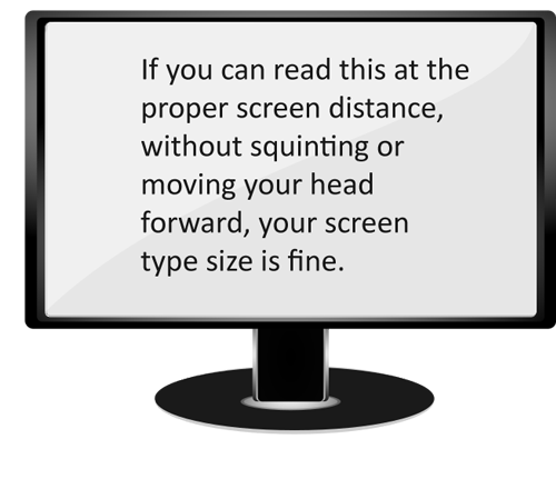 Screen with readable type
